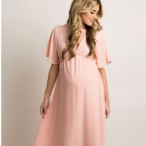 Pinkblush Dresses - Maternity- Light Pink Maxi Dress